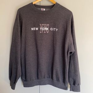 Unisex Embroidered NYC Jumper/ Pullover Large